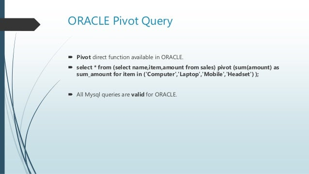 Analytics functions in mysql, oracle and hive