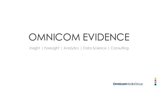 OMNICOM EVIDENCE Insight | Foresight | Analytics | Data Science | Consulting