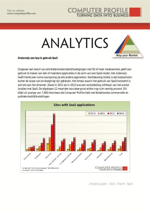 Onderwijs aan kop in gebruik SaaS Ongeveer een kwart van alle Nederlandse bedrijfsvestigingen met 50 of meer medewerkers g...