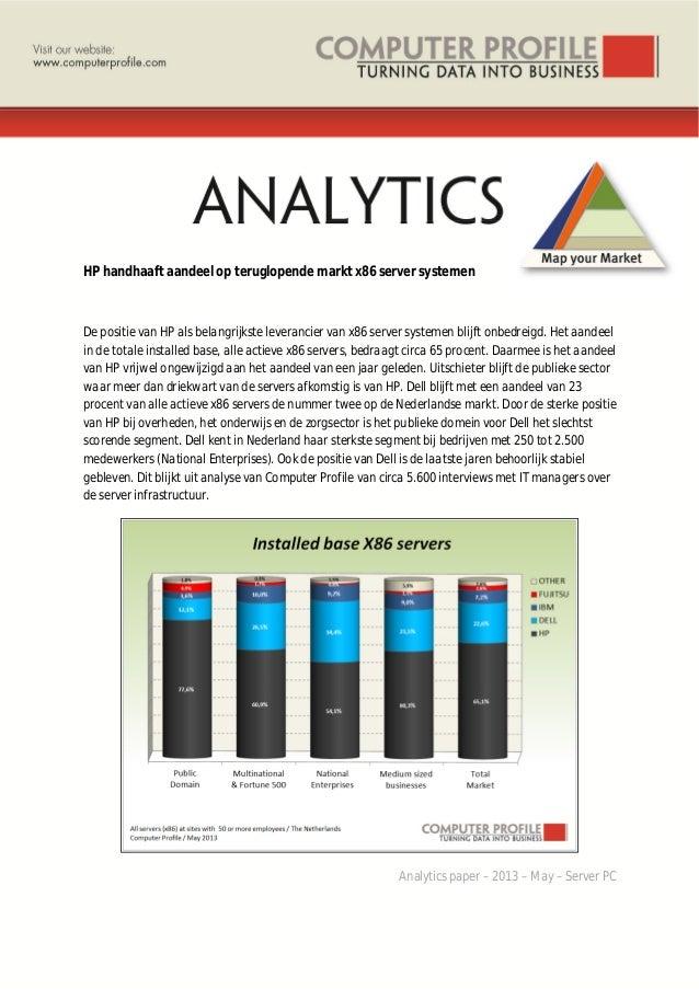 HP handhaaft aandeel op teruglopende markt x86 server systemen De positie van HP als belangrijkste leverancier van x86 ser...