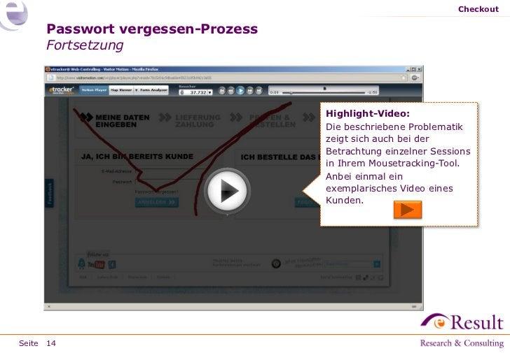 Checkout     Passwort vergessen-Prozess     Fortsetzung                                  Highlight-Video:                 ...