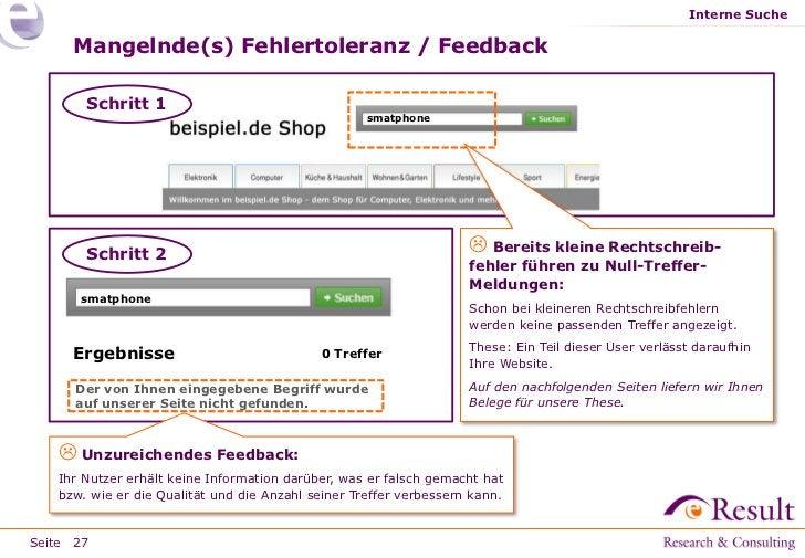 Interne Suche     Mangelnde(s) Fehlertoleranz / Feedback       Schritt 1                                                  ...