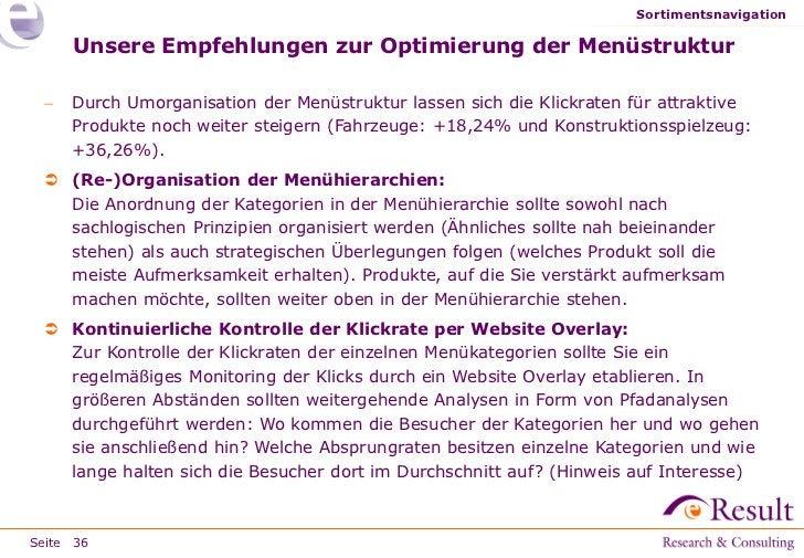 Sortimentsnavigation     Unsere Empfehlungen zur Optimierung der Menüstruktur    Durch Umorganisation der Menüstruktur la...