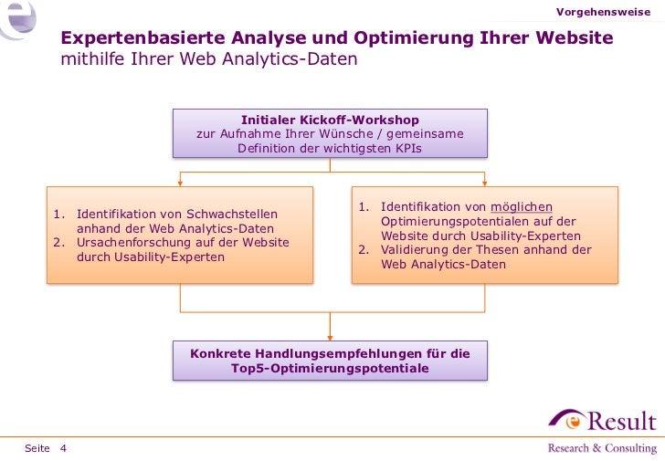 Vorgehensweise     Expertenbasierte Analyse und Optimierung Ihrer Website     mithilfe Ihrer Web Analytics-Daten          ...