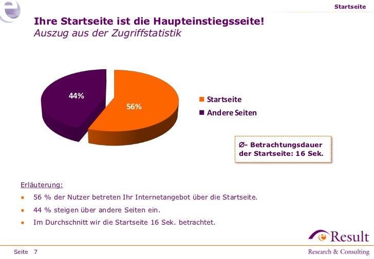 Startseite     Ihre Startseite ist die Haupteinstiegsseite!     Auszug aus der Zugriffstatistik                44%        ...