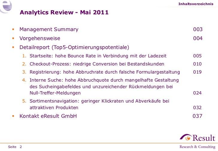 Analytics review e result gmbh Slide 2