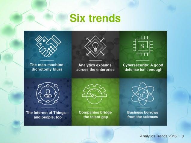 Six trends Analytics Trends 2016 | 3
