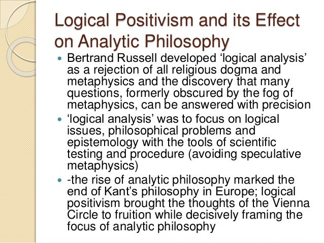 logical positivism and the absurdity of Positivism, logical the term logical positivism [1] is particularly associated with the so-called vienna circle, a group of leading philosophers, mathematicians, and scientists that met in vienna [2], austria [3], in the late 1920s and early 1930s, with german philosopher moritz schlick [4] (188.