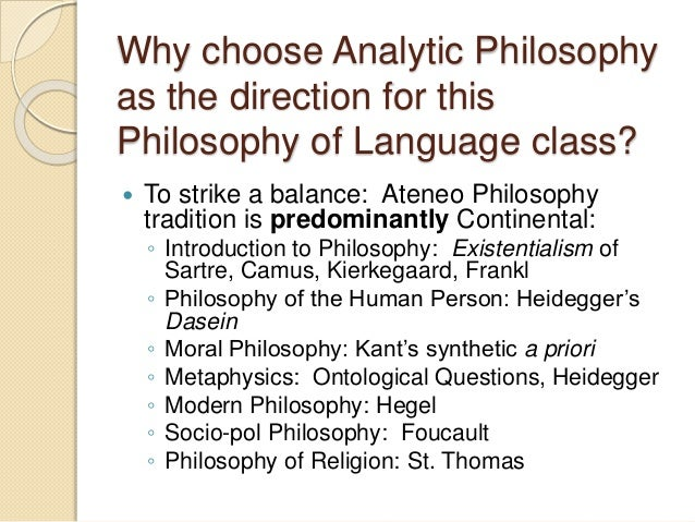 analytic and speculative philosophy