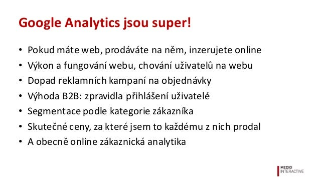 Analytika v B2B světě Slide 2