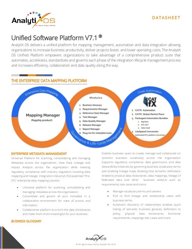 Unified Enterprise Data Mapping Governance Automation Platform - Data mapping requirements