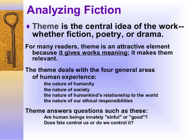 how to analyze fiction