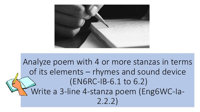 how to write a poem analysis
