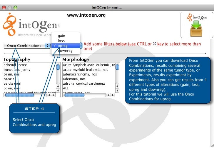 From IntOGen you can download Onco                          Combinations, results combining several                       ...