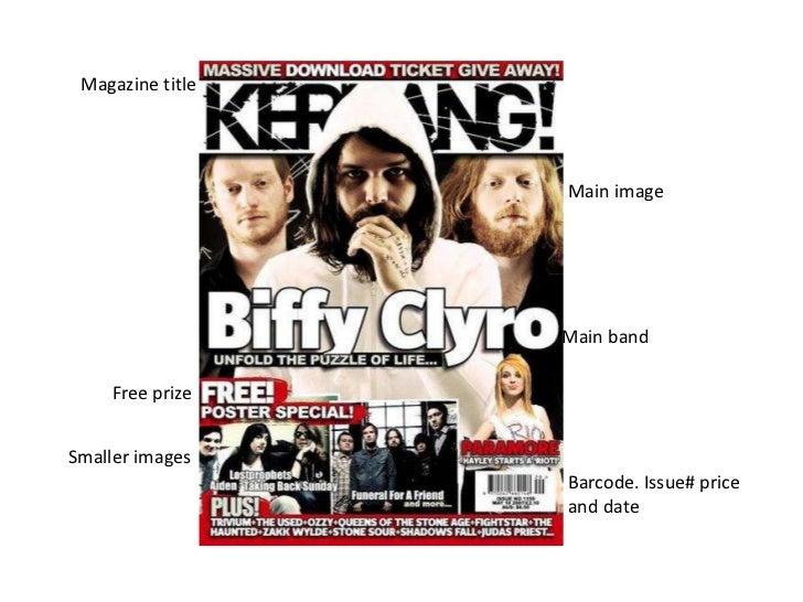 Magazine title                  Main image                  Main band     Free prizeSmaller images                  Barcod...