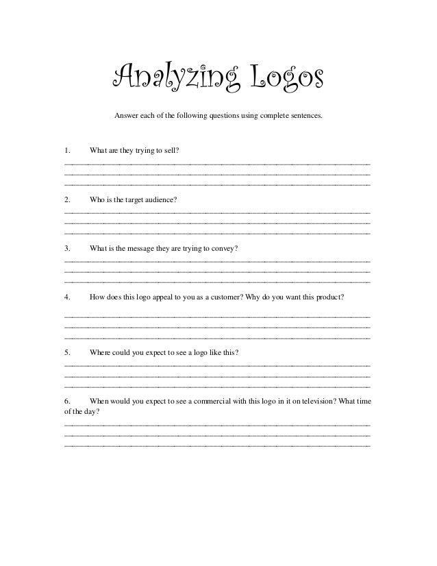 Analyzing logos-worksheet