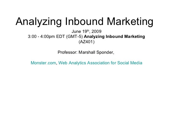 #10 IMU: Analyzing Inbound Marketing (AZ401) Slide 2