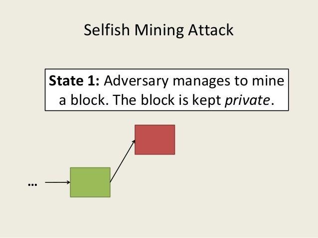 Selfish mining attack