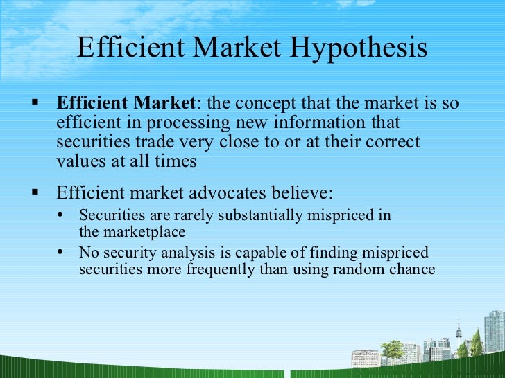 an analysis of the efficient market theory Studies in business and economics - 60 - studies in business and economics technical analysis of efficient market hypothesis in a frontier market.