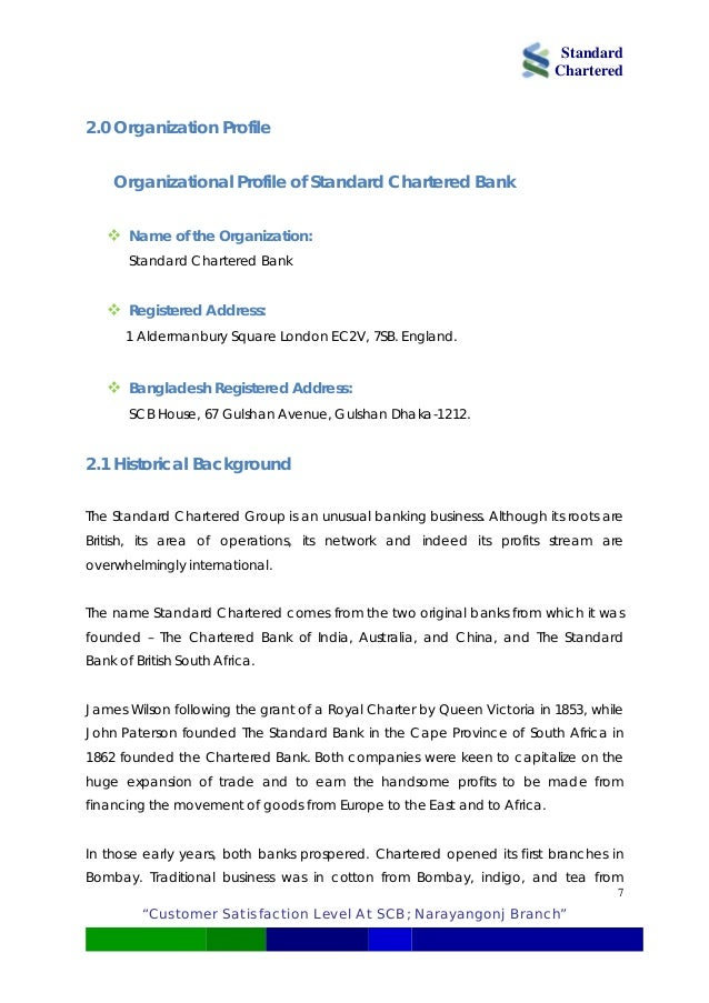 """standard chartered bank customer satisfaction A study on""""customer satisfaction survey on banks"""" submitted to the school of management studies university of hyderabad in pa."""
