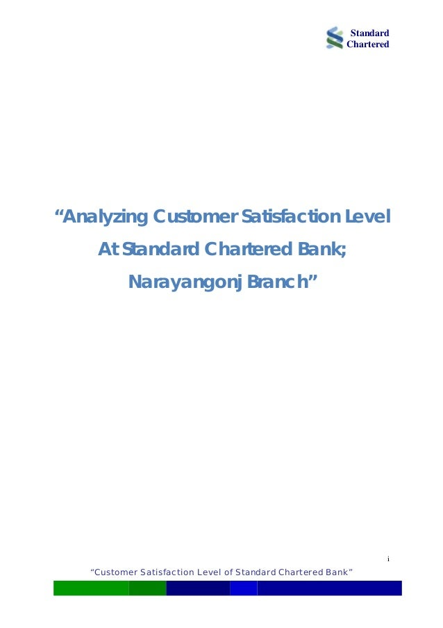 Standard Bank Business Credit Card Analyzing Customer Satisfaction Level at Standard Chartered Bank