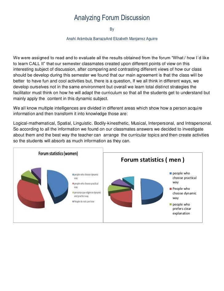 Analyzing Forum Discussion                                                     By                            Anahí Arámbul...