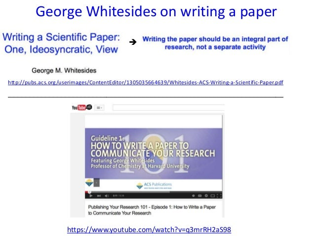 George Whitesides --- The man who reinvents Chemistry