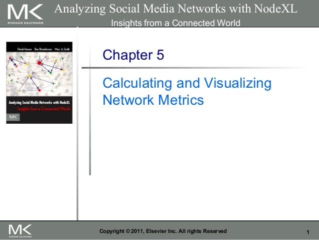 1Copyright © 2011, Elsevier Inc. All rights Reserved Chapter 5 Calculating and Visualizing Network Metrics Analyzing Socia...
