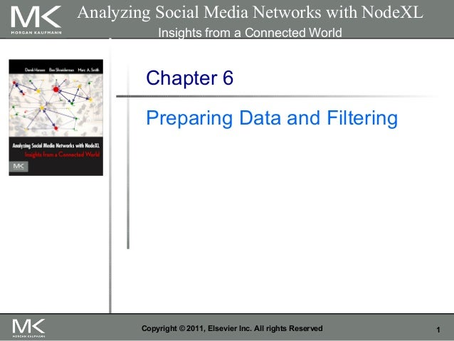1Copyright © 2011, Elsevier Inc. All rights Reserved Chapter 6 Preparing Data and Filtering Analyzing Social Media Network...