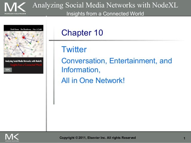 1Copyright © 2011, Elsevier Inc. All rights Reserved Chapter 10 Twitter Conversation, Entertainment, and Information, All ...