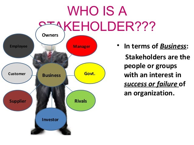 Stakeholder - who is this