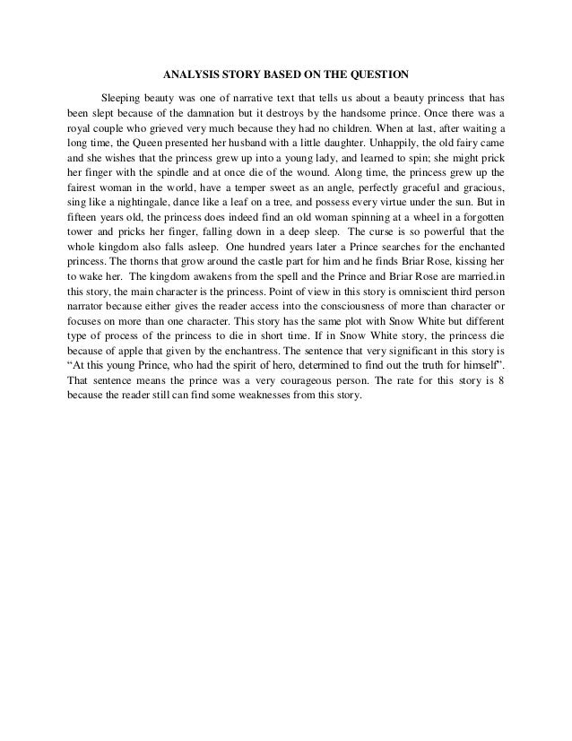 prose analysis on story of a The story of an hour is a short story in which kate chopin, the author, presents  an often unheard of view of marriage mrs louise mallard.