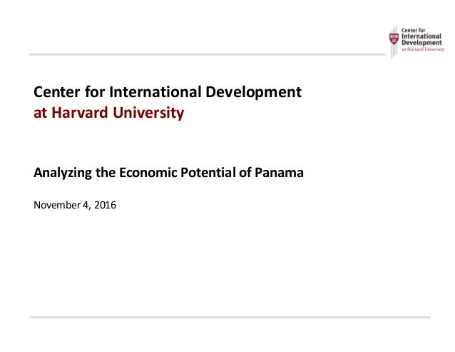 Center	   for	   International	   Development	    at	   Harvard	   University Analyzing	   the	   Economic	   Potential	  ...