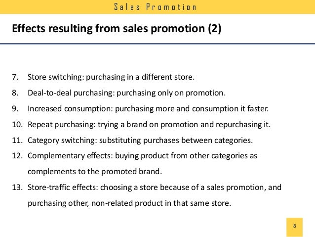 Effect of Sales Promotion on Brands