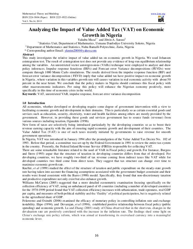 Value added tax research papers