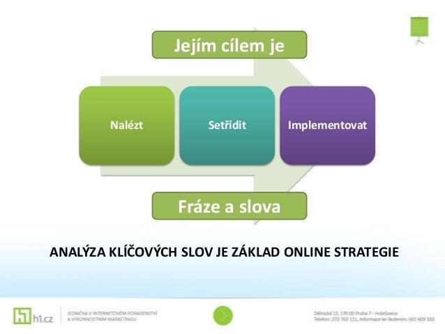 Analýza klíčových slov Slide 3