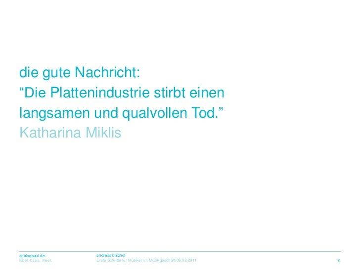"""die guteNachricht:<br />""""Die Plattenindustriestirbteinen<br />langsamen und qualvollenTod.""""<br />Katharina Miklis<br />6<b..."""