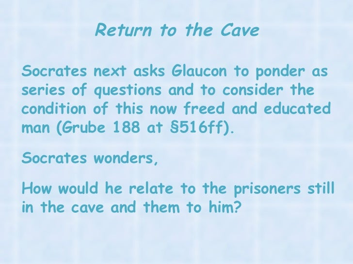 discussion questions for plato s allegory of Study guides tough gcse topics plato questions - allegory of the cave plato questions explain plato's use of the metaphor of shadows in his allegory of the.