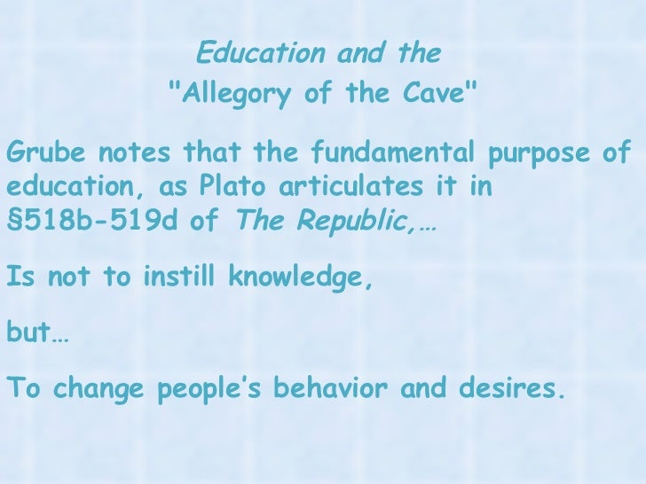 book vii of the republic the allegory of the cave