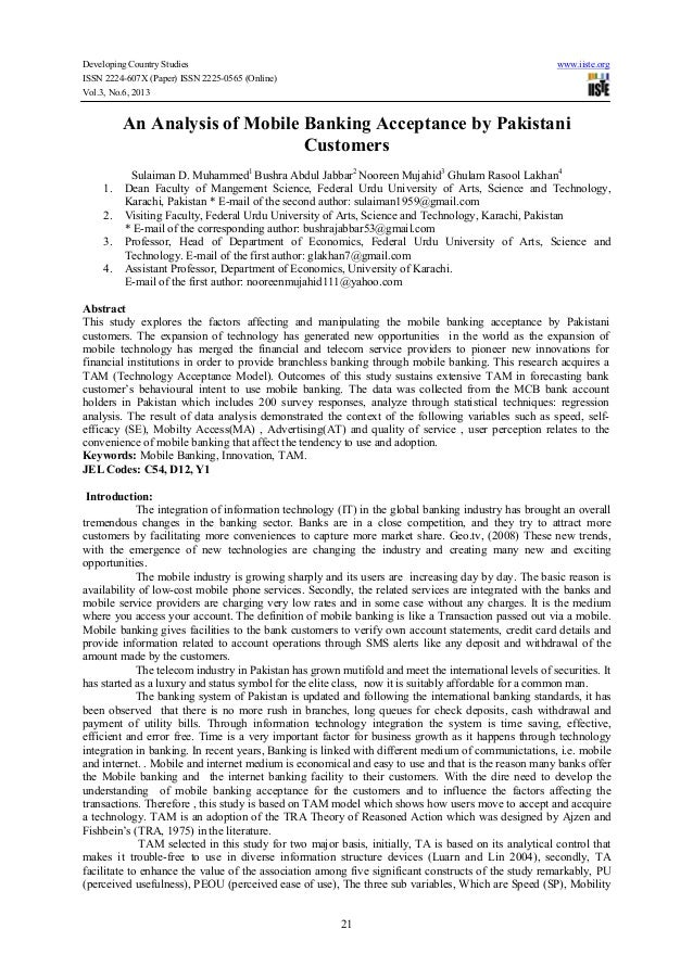 Developing Country Studies www.iiste.org ISSN 2224-607X (Paper) ISSN 2225-0565 (Online) Vol.3, No.6, 2013 21 An Analysis o...