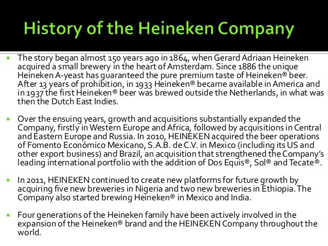 heineken business analyses First class business partner and guardian of heineken assets and reputation   of the business and provide the organisation with relevant and timely analyses .