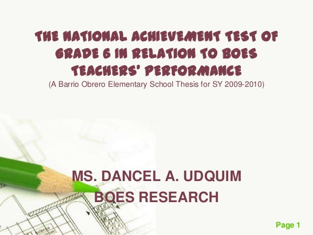 factors affecting national achievement test Teacher classroom practices and student performance:  expenditures to student academic achievement and other outcomes  test, the national.