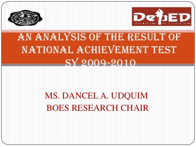 analysis of national achievement test of What do international tests really show about us educational achievement (iea) released national average analysis of international test score.