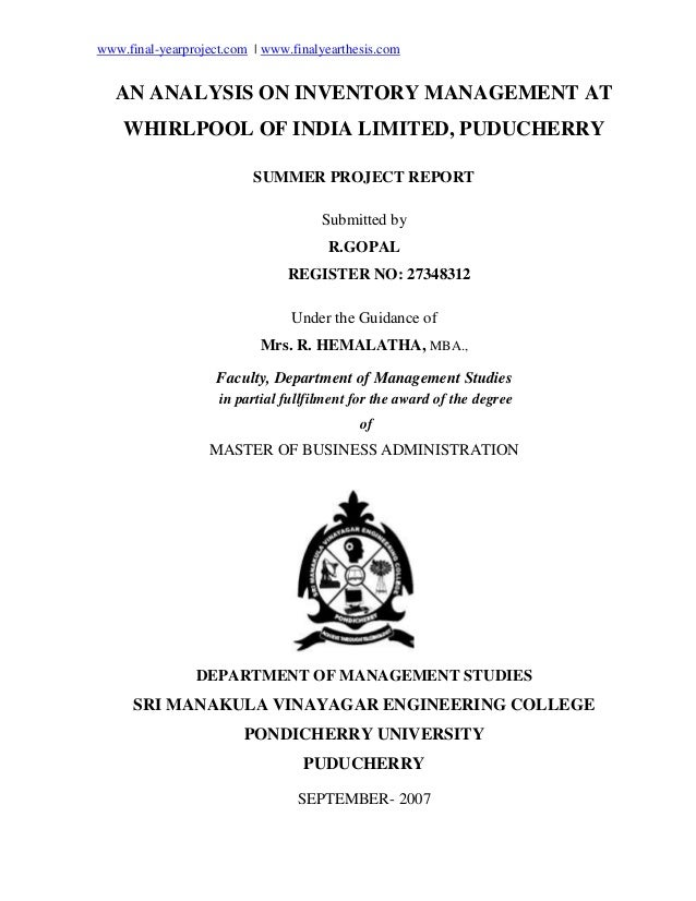 change at whirlpool an analysis
