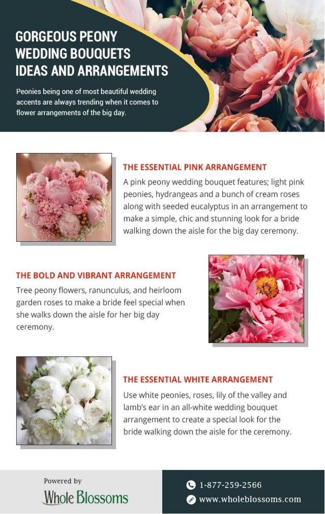 Get Gorgeous Peony Wedding Bouquets Ideas Arrangements