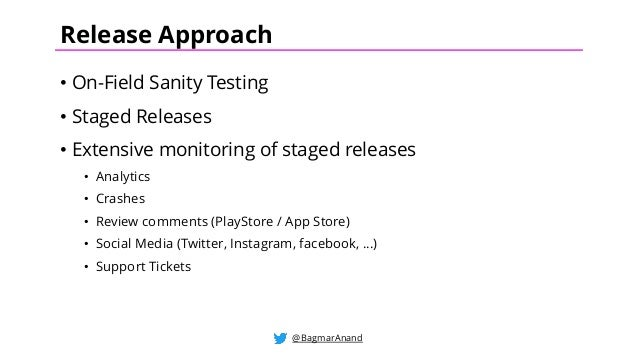 Testing & Release strategy for Native Android & iOS Apps by