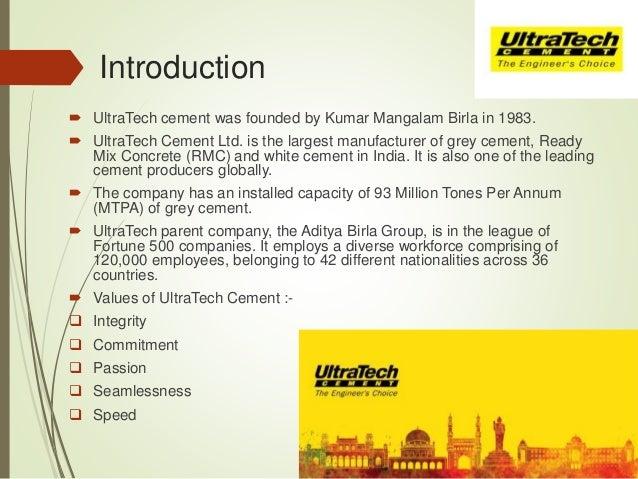 ultratech cement marketing