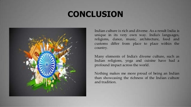 conclusion on indian culture