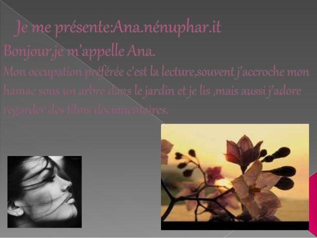 questionnaire de Proust: Ana nénuphar