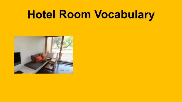 Anantara Hotel Room Vocabulary